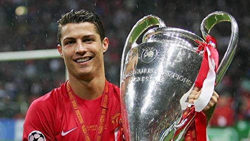 Lcyab Jigsaw 1000 Piezas adultos calmante para el estrés Cristiano Ronaldo- Trofeo Champions League niño Adolescentes mejoran inteligencia Juego clásico de rompecabezas desafío de madera