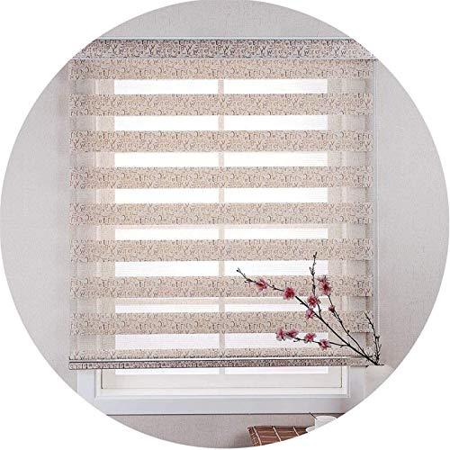 cortinas venecianas Persianas de rodillo de cebra Día y ciegas nocturnas Cortinas de doble tela translúcida o cortinas de visión opacta for la ventana y la puerta con instalación de accesorios decores