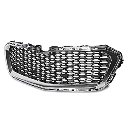 HECASA Front Center Grille With Chrome Molding Compatible with 2014 2015 Chevrolet Malibu Sedan 4-Door, 2016 Chevrolet Malibu Limited