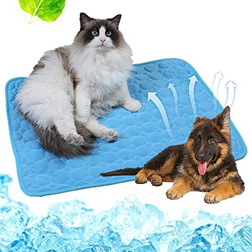 Pet Cooling Mat, Cama Refrescante para Perro, Alfombra Refrescante para Perros, Alfombrilla de Enfriamiento Duradera, para Todos Los Perros y Gatos, Ayuda a tu Mascota a Mantenerse Fresca Este Verano