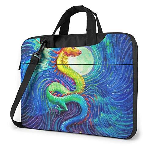 Bolso de Hombro para computadora portátil con Pintura al óleo de dragón Chino, Bolso de Mano para computadora portátil, Bolso de Mensajero de Negocios, maletín