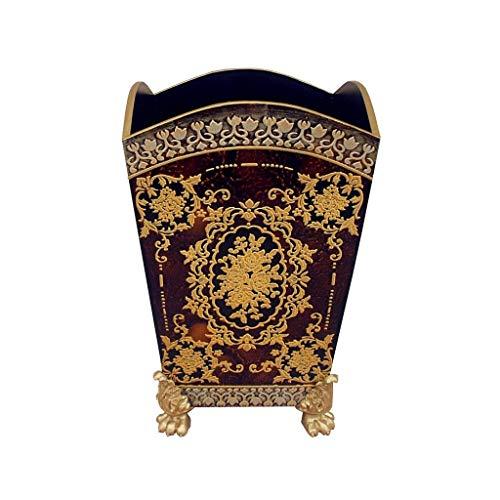 Poubelle- Poubelle découverte, boîte de rangement créative en bois pour le bureau à domicile (Couleur : C)