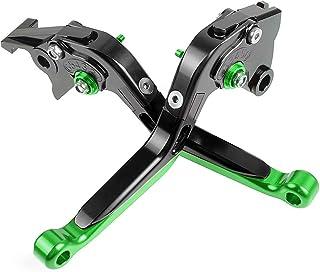 Color : H with Logo PUXINGPING Frein r/églable Pliable Moto CNC Levier dembrayage poign/ée Poign/ées for Kawasaki Z750 2007-2012