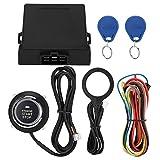 Akozon - Botón de arranque inteligente para motor de coche, 3 – 5 cm, sistema de alarma antirrobo, bloqueo del motor RFID