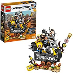 This LEGO brick-built model comes with two highly popular Overwatch figures: BigFig Roadhog with his Chain Hook and minifigure Junkrat with his Frag Launcher and iconic peg leg Kids and fans will love building this highly detailed Overwatch model, in...