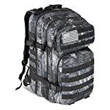 MEWAY 42L Military Tactical Backpack Large Assault Pack Molle Outdoors Daypack (Python)