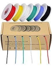 TUOFENG elektrische draad, haak draad kit flexibele siliconen draad (6 verschillende gekleurde 4-20 meter spoels) 600V gestrande draad hoge temperatuur weerstand