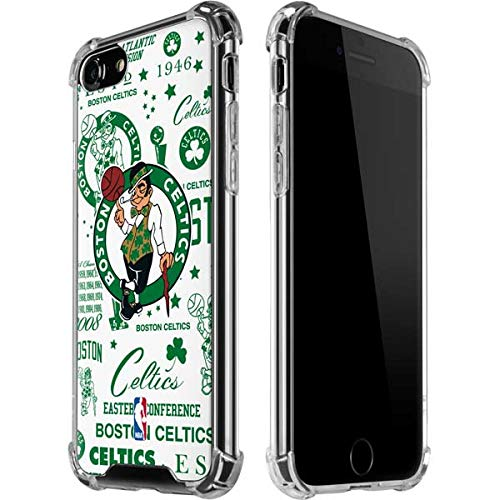 Skinit Clear Phone Case Compatible with iPhone 8 - Officially Licensed NBA Boston Celtics Historic Blast Design