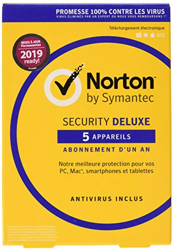 Symantec norton security deluxe 3.0 fr 1 user 5 devices 12mo card mm (21355464)