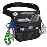 KangaPak Nursing Organizer Belt - New Microfiber Design - 9 Pocket Utility Pouch for Stethoscopes, Scissors and Other Medical Supplies (Seal Grey)