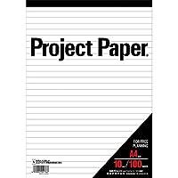 オキナ プロジェクトペーパー A4 横罫10mm 100枚 PPA40Y / 5冊
