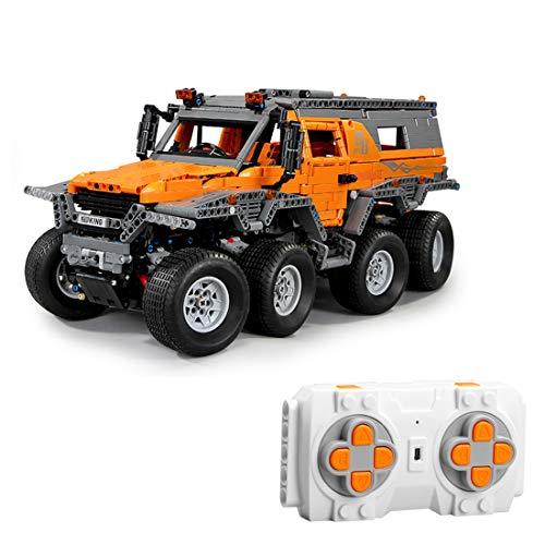 H0_V 2758 piezas 2,4 G 1:8 Technic Maqueta de coche teledirigido con 8 motores, juego de construcción compatible con Lego
