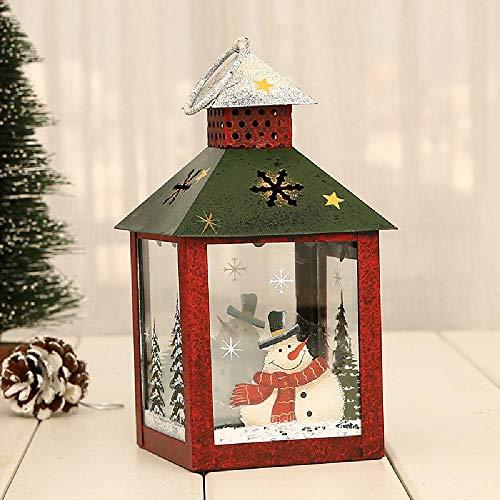Decoraciones de luz navideña Hierro Retro Lámpara de viento Decoración Colgante Patio Festival Escena Decoración Luces de Navidad