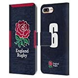 Head Case Designs Officially Licensed England Rugby Union Position 6 2020/21 Players Away Kit Carcasa de Cuero Tipo Libro Compatible con Apple iPhone 7 Plus/iPhone 8 Plus