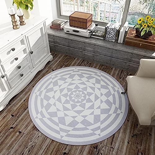 Alfombra Circular para Interiores Y Exteriores, Decoración del Patio De La Oficina En Casa Sala De Estar Dormitorio Baño Esterilla De Yoga Alfombrillas para El Suelo,D,140cm(55inch)