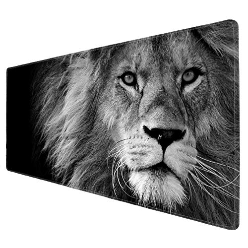 iNeworld Large Mouse Pad XXL Computer Game Mouse Mat Desk Pad Keyboard Mat Big Mouse Pad for Laptop Work & Gaming& Office & Home (31.5×11.8×0.15 inch)- (Lion)