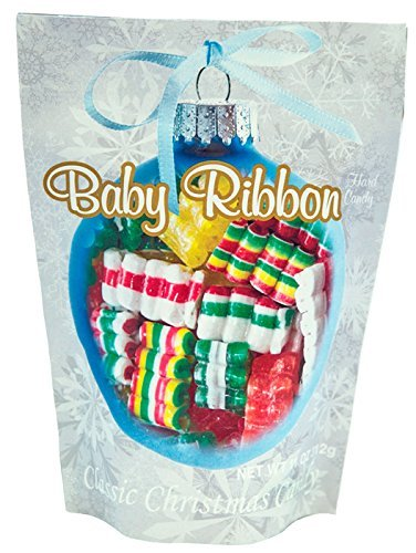 Primrose Baby Ribbon Hard Candy - Classic Christmas Candy in 11 oz Holiday Retail Package - Ideal Gourmet Food Gift - Old Fashion Candy