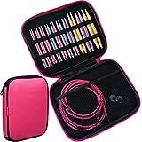 Kit d'aiguilles à tricoter circulaires 3,75mm - 10mm - Avec étui de rangement à fermeture éclair - 10 tailles
