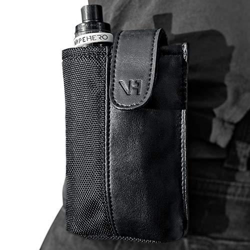 VapeHero® E-Zigaretten Gürtel- und Hüft-Tasche aus Leder und Polyester | Wasserabweisend | Passend für alle großen und kleinen Box Mods