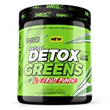 Natural Organic Detox Greens Superfood, Fruit Punch - 20+ Ingredients, Vitamins, Minerals, and Prebiotics | Reduce Bloating, Aid Weight Loss, Aid Digestion, Promote Detox & Immunity, Boost Energy