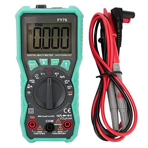 Rango digital FY76 multímetro automático multímetro 0~600 V CA CC de verdadero valor eficaz probador con LCD