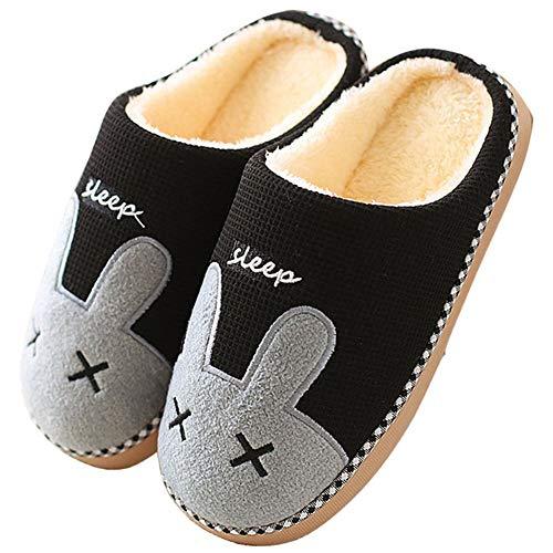Zapatillas de Estar Zapatillas de Casa Mujer Hombre Invierno Interior Zapatos de Algodón Caliente...