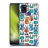 Head Case Designs Licenza Ufficiale Micklyn Le Feuvre Costumi E Occhiali da Sole su Bianco Pattern Estate Cover Dura per Parte Posteriore Compatibile con Samsung Galaxy A21s (2020)