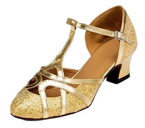 MGM-Joymod - Zapatos de baile latino para mujer con purpurina sintética para...