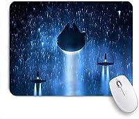 NIESIKKLAマウスパッド 宇宙船のクールなデザイン ゲーミング オフィス最適 高級感 おしゃれ 防水 耐久性が良い 滑り止めゴム底 ゲーミングなど適用 用ノートブックコンピュータマウスマット