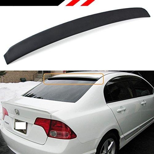 Cuztom Tuning Unpainted Black JDM VIP Rear Window Roof Top Spoiler Compatible with 2006-2015 Honda Civic LX/EX/SI/Sport 4 Door Sedan Models Only