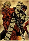 binghongcha Anime Giapponesi Trigun Poster Wall Stickers Retro Poster Stampe Ad Alta Definizione per Soggiorno Decorazione Domestica M-545 (50X70Cm) Senza Cornice