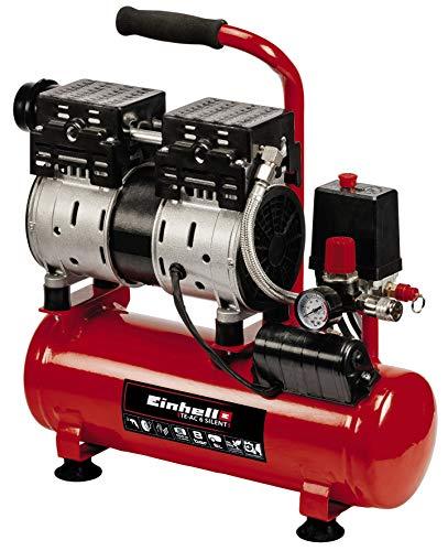 Einhell Kompressor TE-AC 6 Silent (550 W, max. 8 bar, 110 L/min Ansaugleistung, öl- und servicefreier Motor, 6 l-Tank, Manometer, Schnellkupplung, Sicherheitsventil)