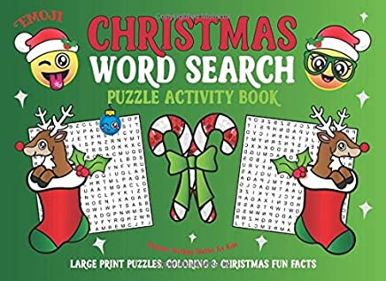 Wordsearch Puzzles Book Xmas Present Stocking Party Bag Filler