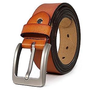 Belts for Men Genuine Leather Casual Belt for Dress Jeans