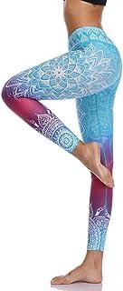 High Waist Print Yoga Pants Fitness Yoga Leggings, Workout Running Leggings Gym Yoga Pants Elastic Slim Sports Leggings
