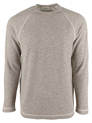 Price comparison product image Tommy Bahama Fortuna Reversible Crew Pullover (Color: Taupe Heather,  Size XXL)
