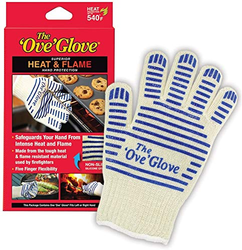 'Ove'Glove 540 Degree Resistance Hot Surface Handler Grilling Glove Perfect for Kitchen/Grilling As Seen On TV Household Gift Heat Flame & Steam (2 Pcs Red)