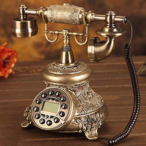 Dirgee Teléfono Antiguo, Teléfono de los EE. UU. / Teléfono Fijo/Cable de línea Fija Clásico (25 x 19 x 27 cm) (Color: 3) (Color : #1)