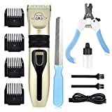 Dog Grooming Clipper Set, MS.DEAR Professional Cat Hair Shaver Electric Pet Trimmer Tool