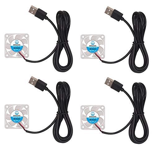 WINSINN 4010 - Ventilador USB LED de color (40 mm, 40 x 10 mm, 40 x 10 mm, 4 unidades)