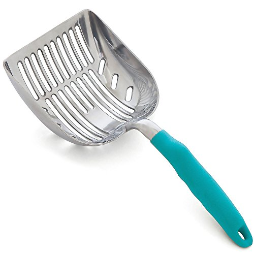 DuraScoop Jumbo Cat Litter Scoop All Metal EndtoEnd with Solid Core Sifter with Deep Shovel MultiCat Tested Accept No Substitute for the Original colors may vary