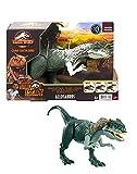Jurassic World Ataque Rugido Allosaurus Dinosaurio articulado con sonidos, figura de juguete para niños (Mattel GWD10)