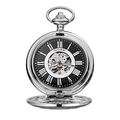 Reloj Bolsillo Neutral Reloj Bolsillo para Hombre Reloj Bolsillo mecánico Retro Reloj Bolsillo Digital con Grabado clásico fo (Relojes mecánicos para Hombre)