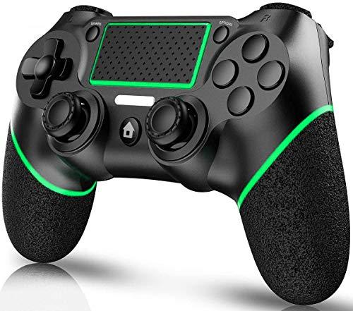 ELYCO Manette pour PS4, sans Fil Gamepad Joypad Joystick, DualShock 6 Gyro/HD Dual Vibration/Touch Panel/LED Indicator Wireless Game Controller