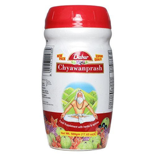 500g Jar Dabur Chyawanprash Authentic Ayurveda Food Supplement with Herbs and Spices Herbal Jam Tonic- No UK Postage