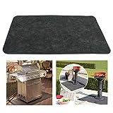 ixaer BBQ Grill Splatter Mat Fireproof Heat Resistant Roast Mat Floor Protective Rug for Backyard Outdoor Deck Patio(48 x 30inch)