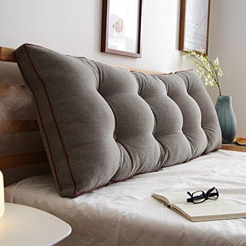 ZWL Coussin de lit, Grand Dossier Grand Coussin Coussin de lit Canapé Protéger Le Cou Protéger l'oreiller de Taille Long 100-120cm Mode z (Couleur : #2, Taille : 100 * 20 * 50cm)