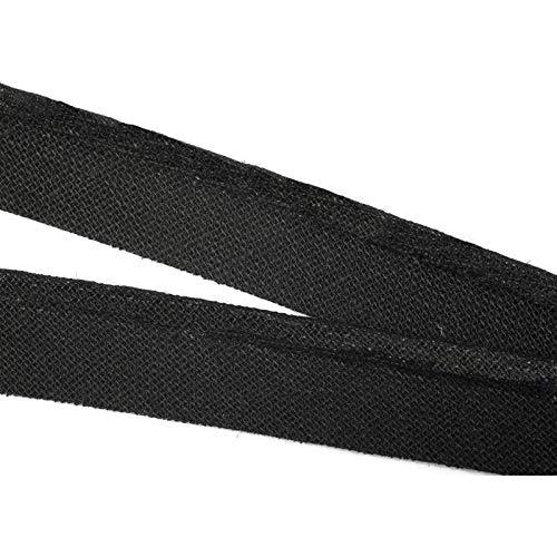 Paspelband Baumwolle, 10 Meter, in 40 Farben, Biesenband / Farbe: 40 – schwarz