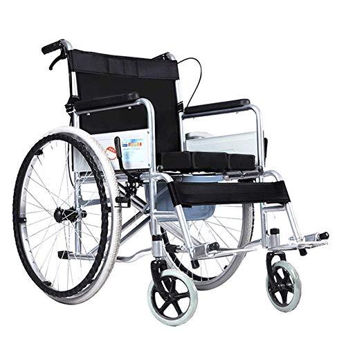 YEESEU. Krankenhaus-Rollbett, Medizintechnik-Rack, Leicht faltrollstuhl Fahr Medical, Multi-Funktions-Elderly Tragbarer Behinderte älteren Stepping Wagen Rollstuhl mit WC