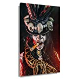 CZWZDY Voodoo Mythology Bawon Samdi Poster Room Decor Prints Contemporary Picture Painting Art Canvas Wall Decoration Bathroom Pics Canva Photos Giclee Artwork Paintings for Bedroom Rectangle Picture (12x18inch(30x45cm),Unframed)